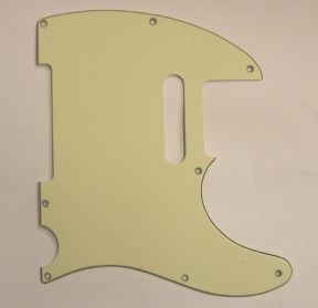 Tele 3-Ply Scratchplate 8-Hole Mint Green  8291MG